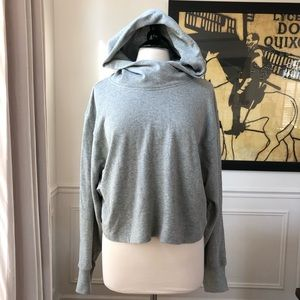 A.L.C. Grey Hoodie Slightly Cropped NWT Large